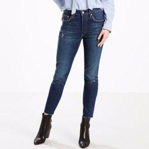 Levi's 501 raw cut jeans